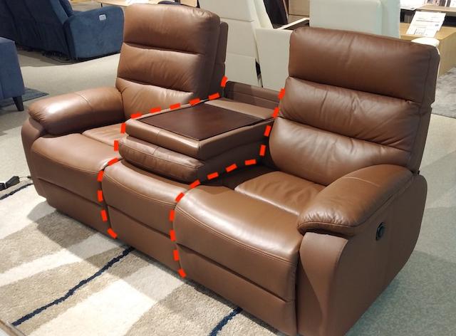 電動ソファーのシートごとの分解箇所