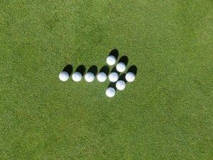 ゴルフボールの矢印