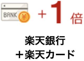 楽天銀行+楽天カード【+1倍】