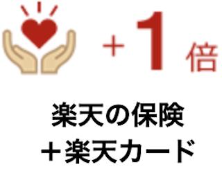 楽天の保険+楽天カード【+1倍】
