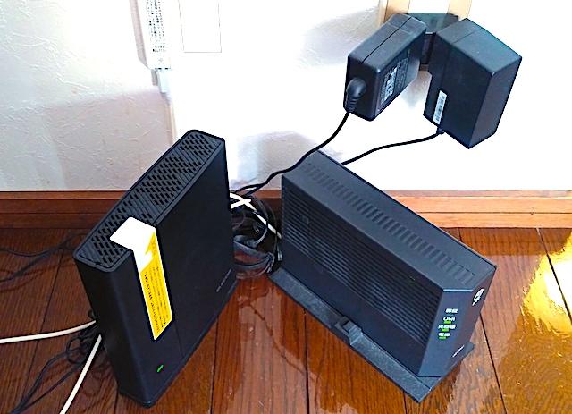 ドコモ光2種類の機器の画像