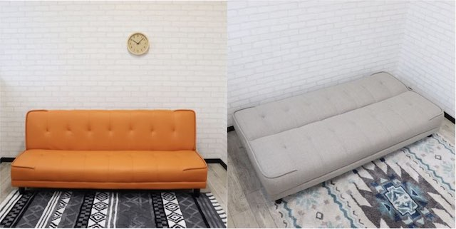 【e-casa】シンプルなソファベッド
